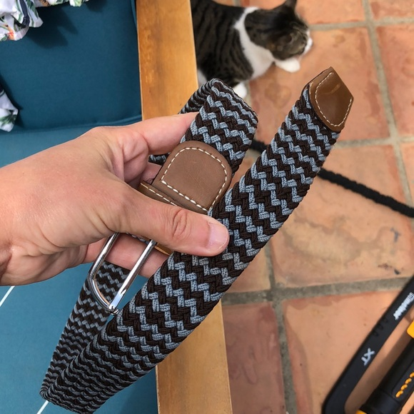 Other - Cotton and leather belt